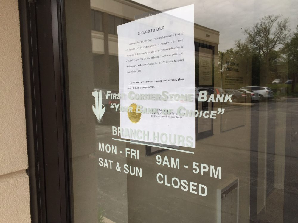 Regulators Snatch Keys of KOP's Failed First CornerStone Bank