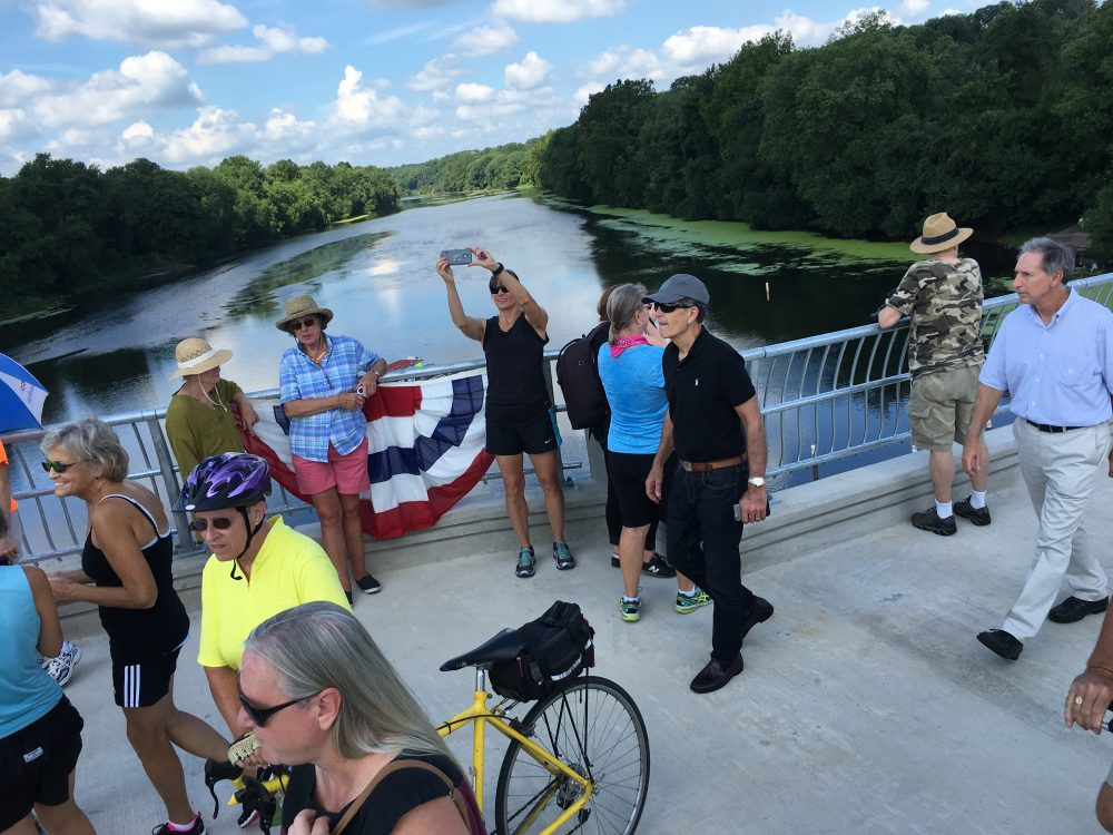 Bike Riders Celebrate Opening of Valley Forge's New Sullivan's Bridge