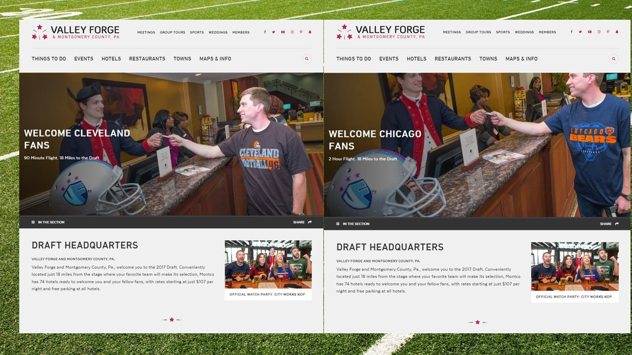 VFTCB Uses New Technology to Attract Out-of-Town Football Fans to 2017 NFL Draft