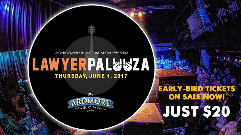 Montco Lawyers Rock for Local Causes; Tickets Available for LAWYERPALOOZA