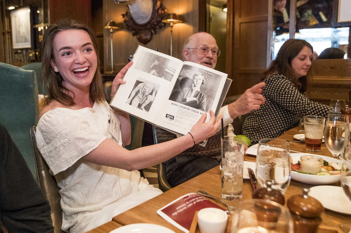 Haverford College Tradition Brings Together Current Seniors with Graduates from 50 Years Ago