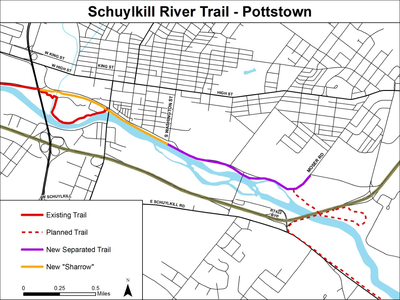 Construction Begins on New Portion of Schuylkill River Trail in Pottstown