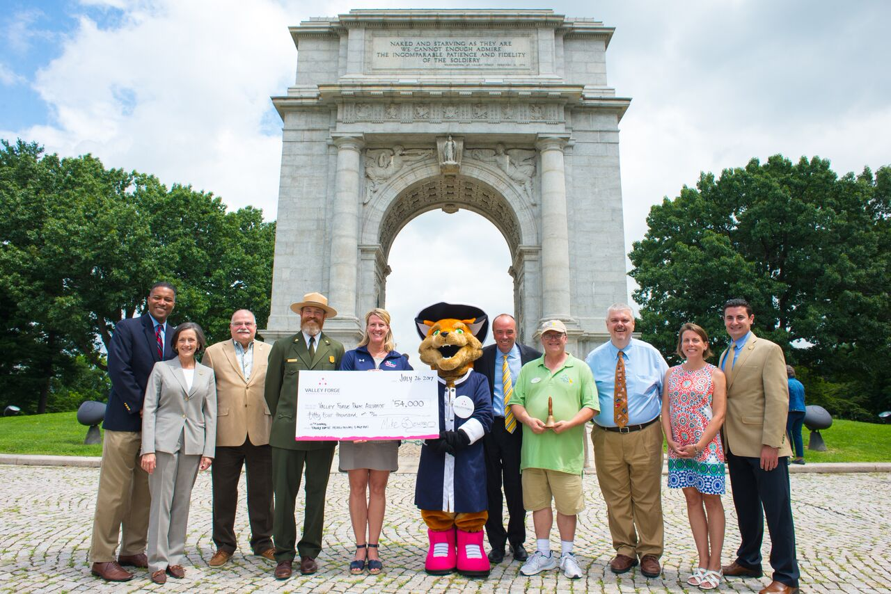 VFTCB Presents Its Largest-Ever Donation to Valley Forge National Park