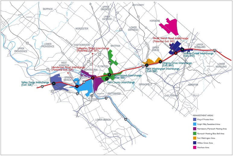 Montco Campus Map.Pennsylvania Turnpike Improvements Moving Forward In Montgomery County