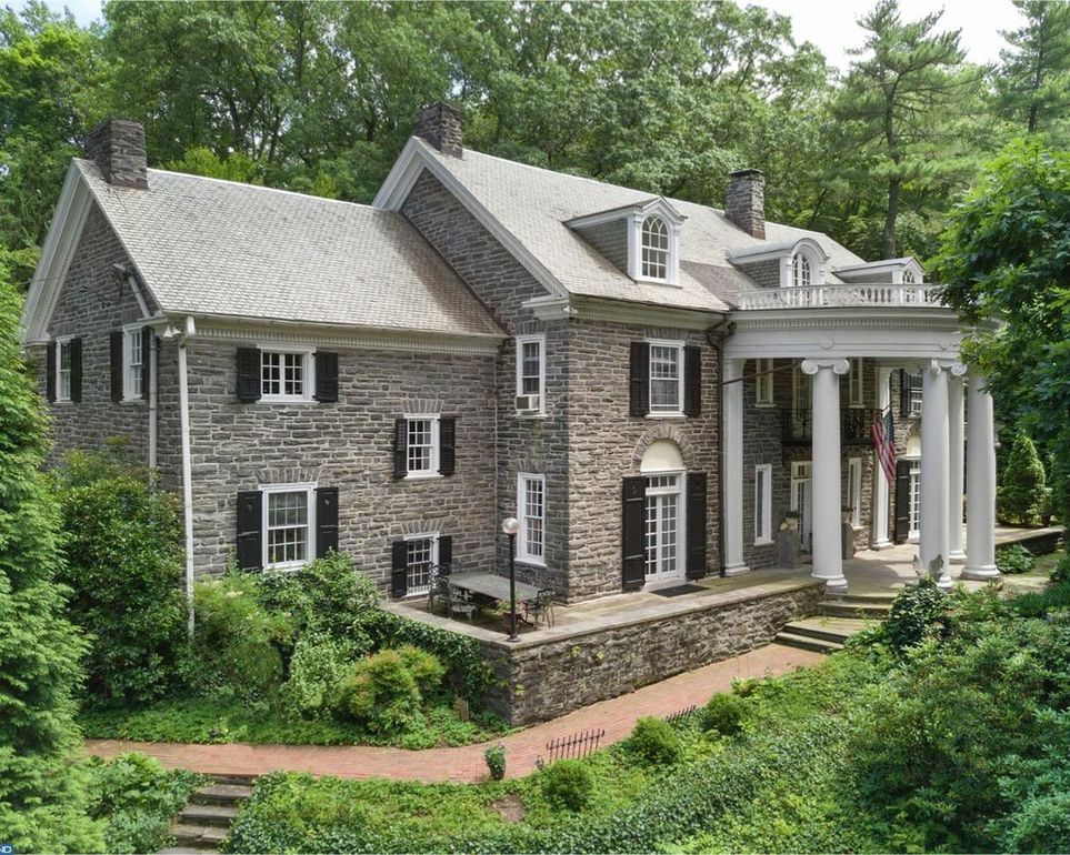House of the Week: Striking Stone Colonial in Ardmore