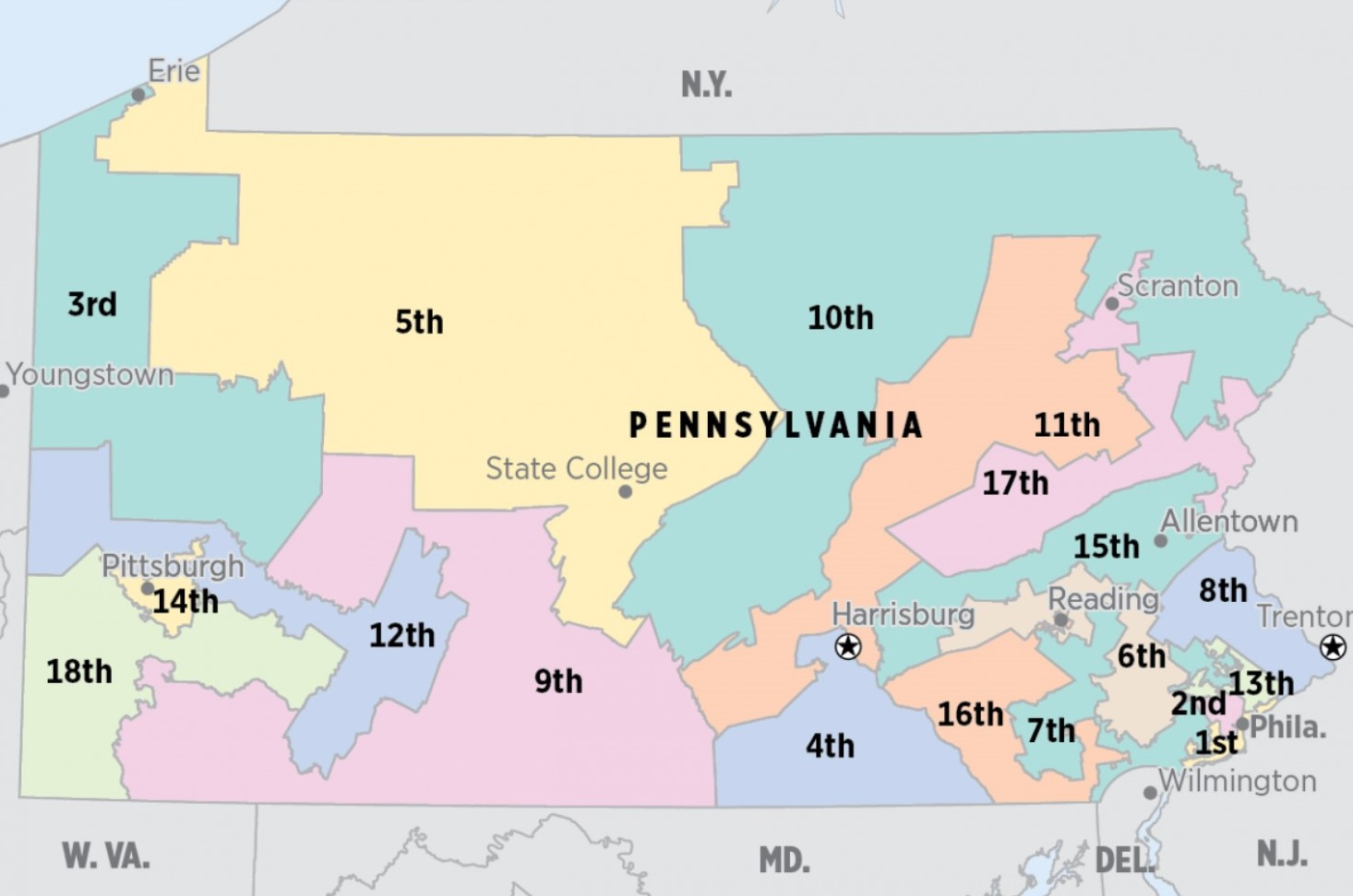 Pennsylvania congressional map in gerrymandering case is upheld by federal judges