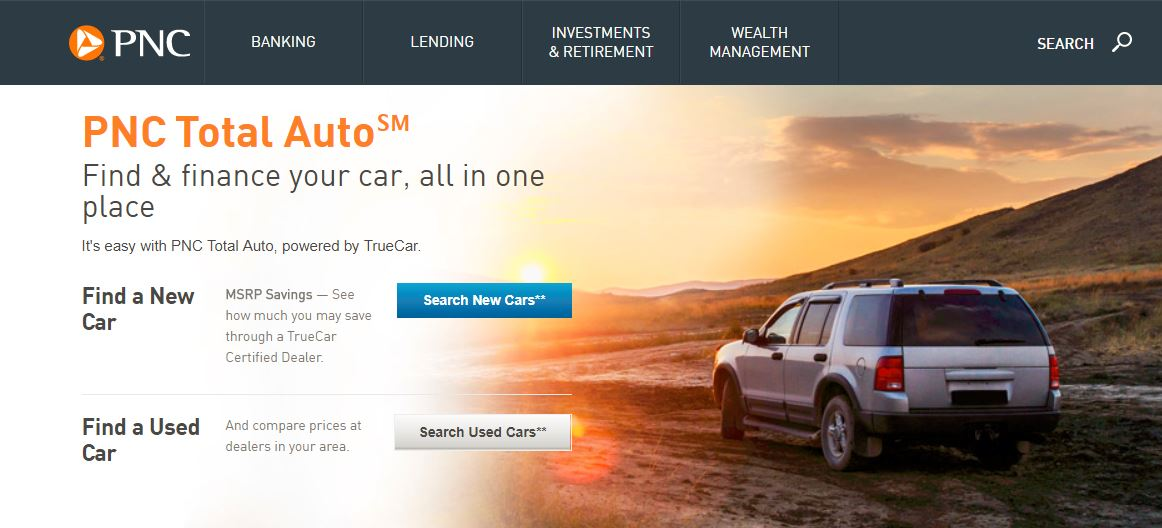 New auto lending product offered by PNC Bank