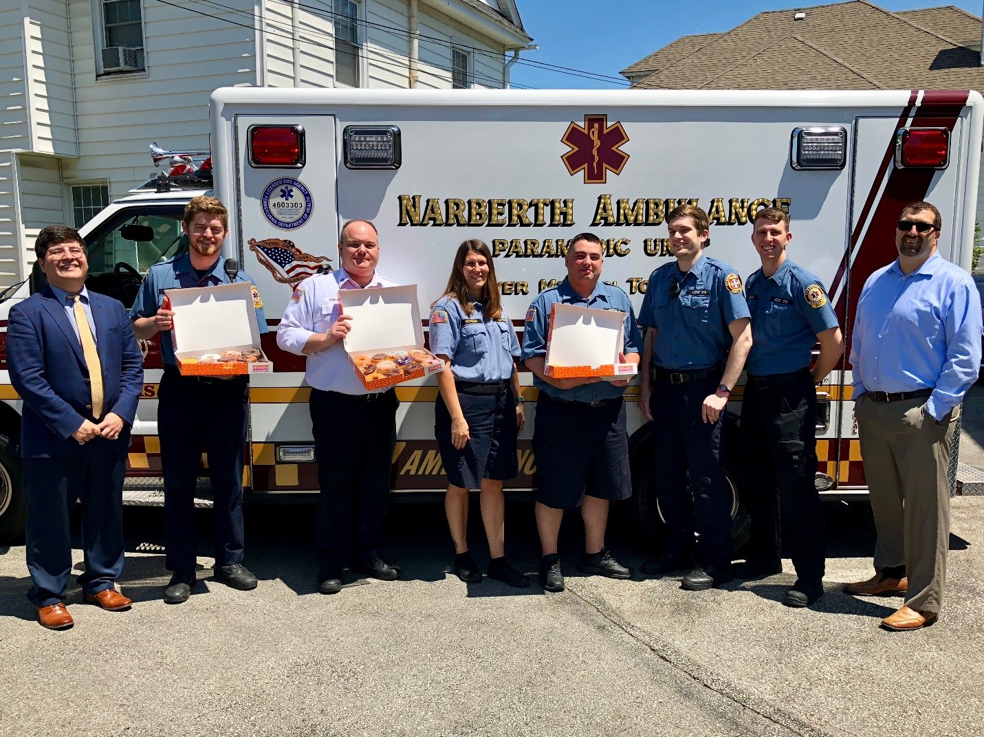 Malvern Bank, National Association Honors Narberth Ambulance in Celebration of EMS Week