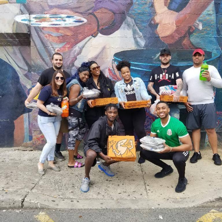 Helping homeless addicts is starting with pizza