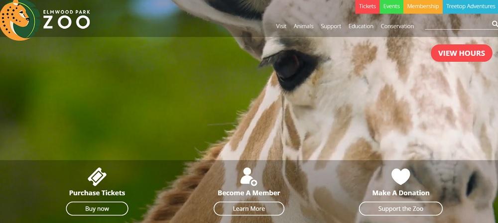 Elmwood Park Zoo unveils new logo, new website