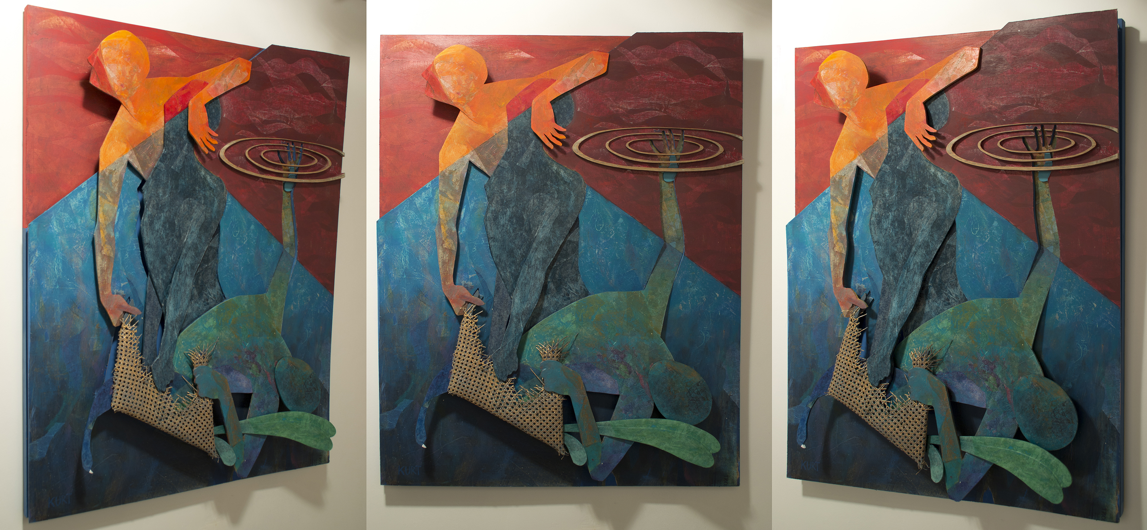 Jenkintown native's art exhibit at MCCC adds autobiographical flair
