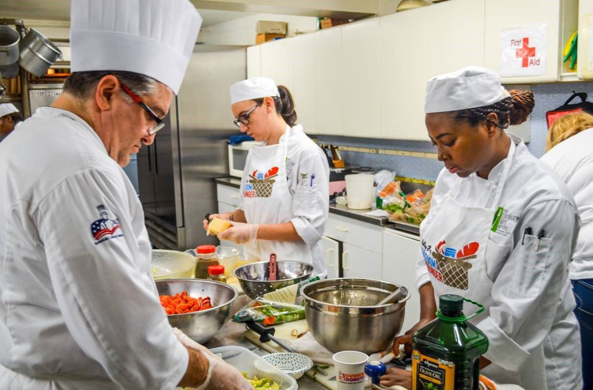 High school students compete in The Culinary Arts Institute of Montgomery County Community College's Cooking Competition