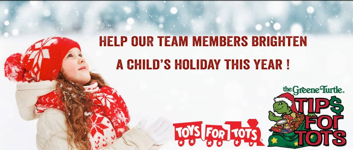 Green Turtle Sports bar and Grille announces annual Tips for Tots holiday drive