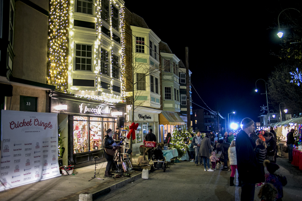 Ardmore's Cricket Cringle brings outdoor holiday market to the Main Line with shopping, music, food, and family fun