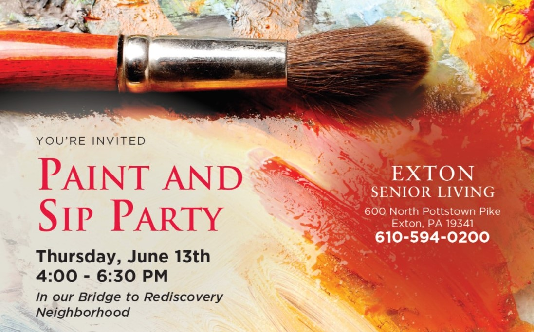 Exton Senior Living to showcase Bridge to Rediscovery program at Paint and Sip Party