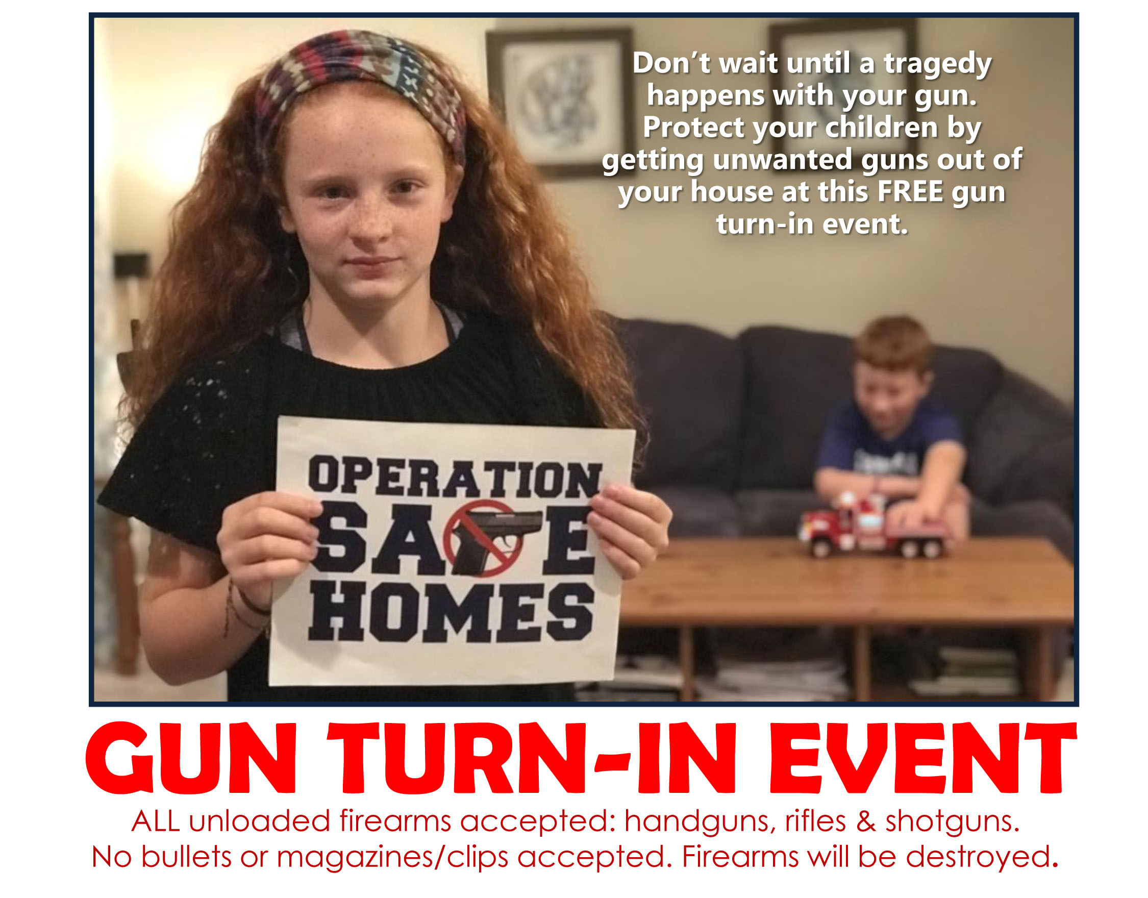 'Operation Safe Homes' free gun turn-in event set for 8 police departments in Montgomery County