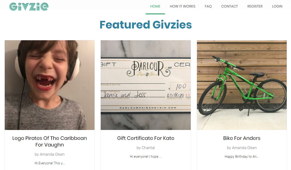 Givzie, LLC launches collective giving platform for one big gift instead of 20 small gifts