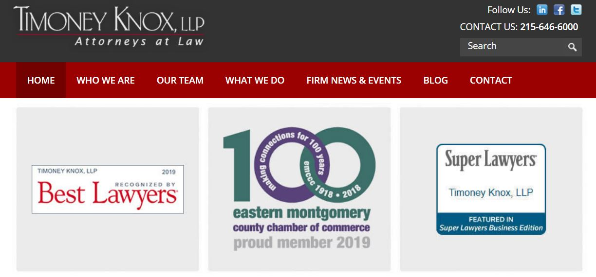 Timoney Knox lawyers included in 'The Best Lawyers in America' 2020 Edition