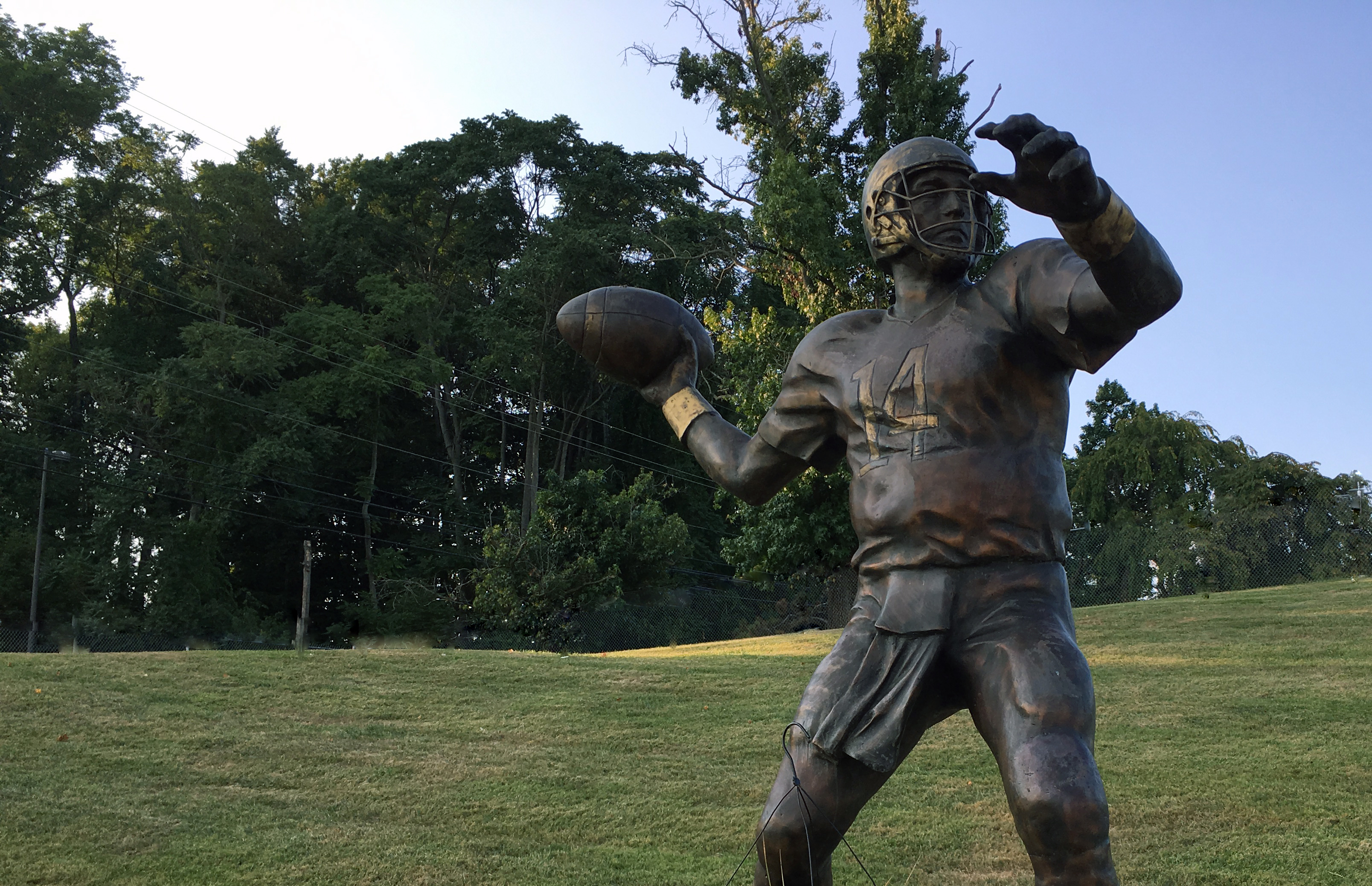 Statue of former West Chester University quarterback a tangible local reminder of 9/11 tragedy