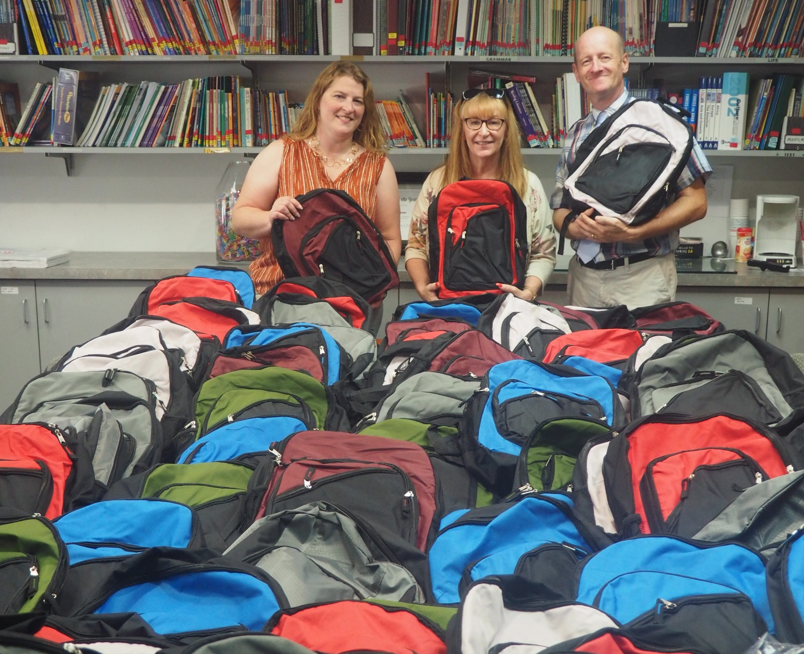 Keystone Opportunity Center distributes over 400 backpacks to students