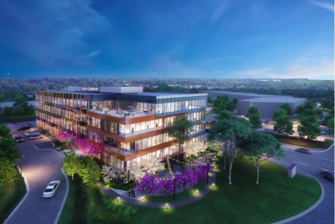 Brandywine Realty Trust unveils plans for new office building surrounded by park in King of Prussia