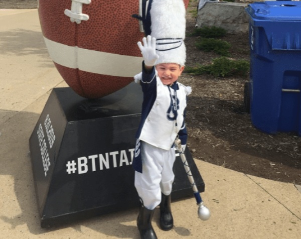 Penn State Blue Band finds newest drum major in Worcester 3-year-old