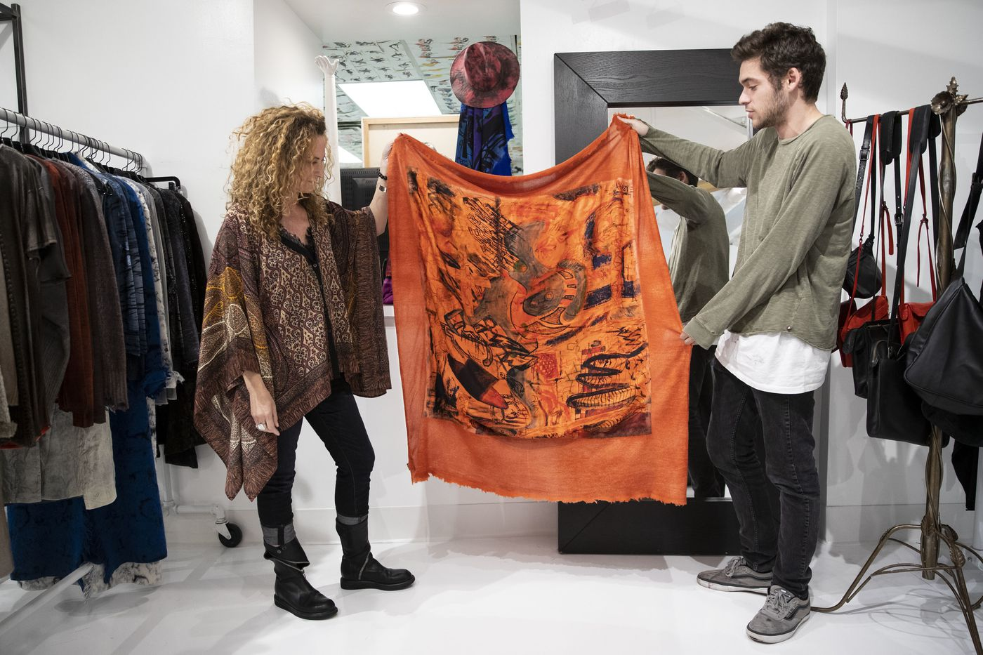 Drawings of Springfield Township High School Grad, Grandson of Legendary Boutique Owner Joan Shepp Featured On Exclusive Collection of Scarves