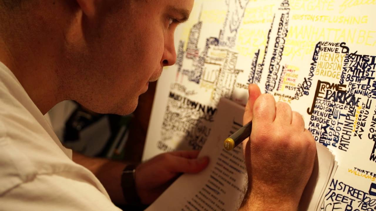 Flourtown Man Creates Unique Sports-Themed 'Word Art'