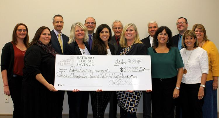 Hatboro Federal Savings Presents Total of $222,222 in Donations to Nine Educational Organizations