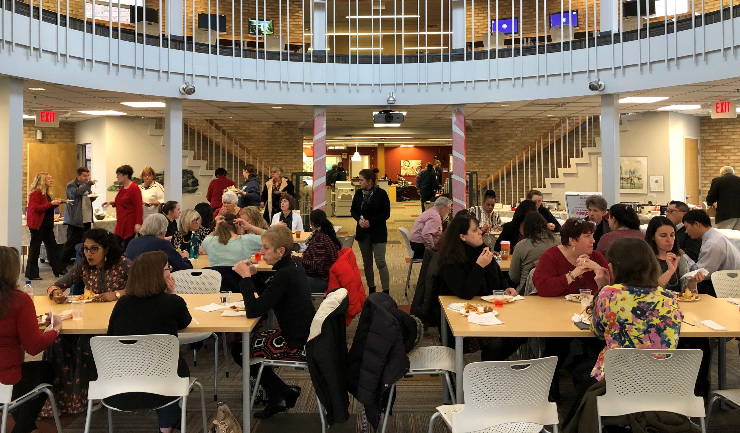 Harcum Trades College-Sponsored Banquet for Holiday Potluck, Donation to Philabundance