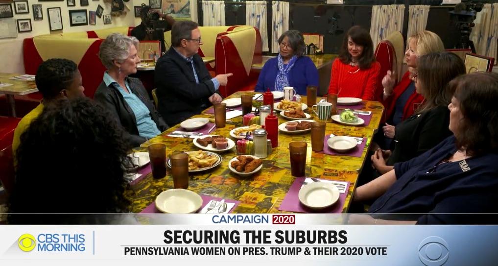 CBS News: Women from Across Political Spectrum Talk 2020 Presidential Election at Jem Restaurant in Norristown