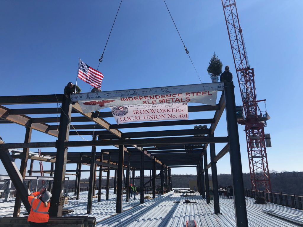 Steel Frame On AmerisourceBergen's Future Headquarters and Conshohocken Skyline Changer Completed