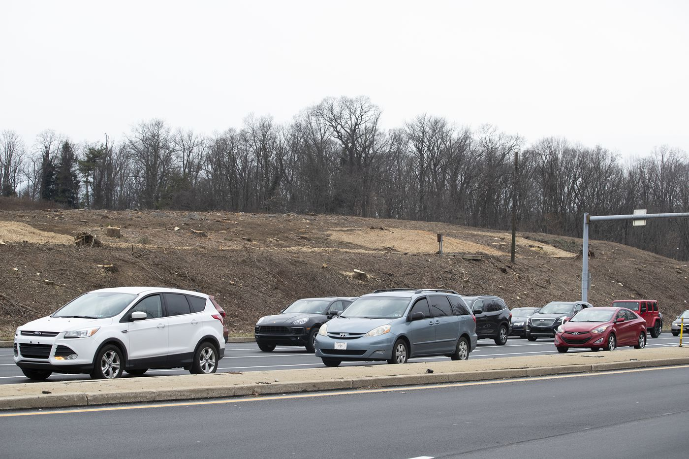 Radnor Hillside Near 476 Interchange Cleared of Trees, Upsetting Some Residents