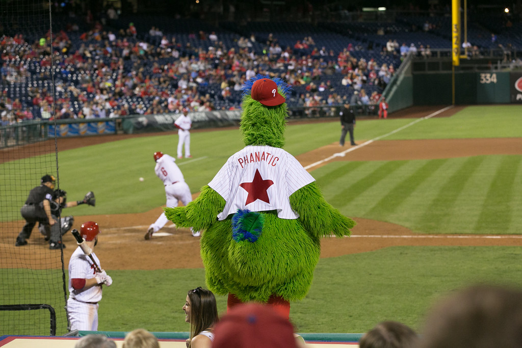 Phillie Phanatic Welcomed Phil Gosselin to the Phillies Before Infielder Was Even Born
