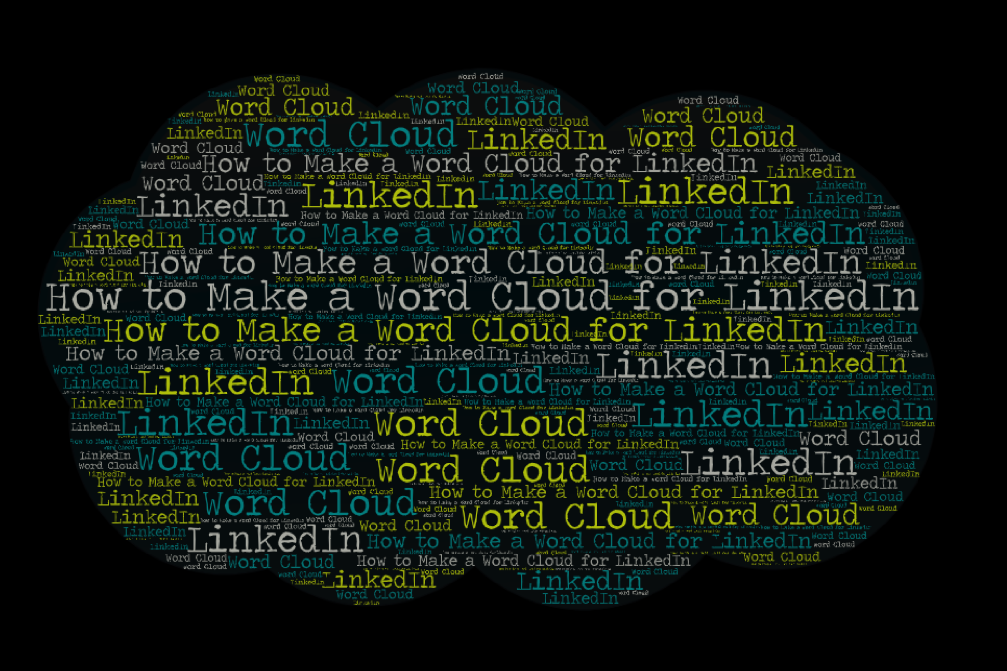 How to Make a Word Cloud for LinkedIn
