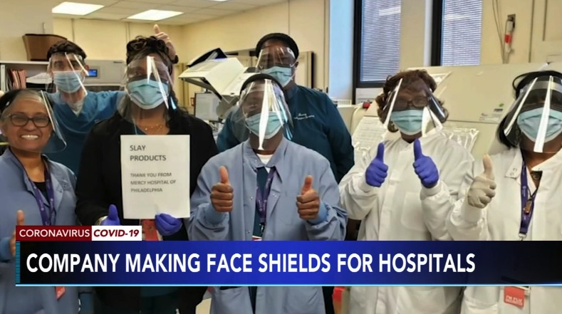 King of Prussia-Based Slay Displays Helps Health Care Workers by Making Face Shields for Hospitals, Needs Your Help To Create More