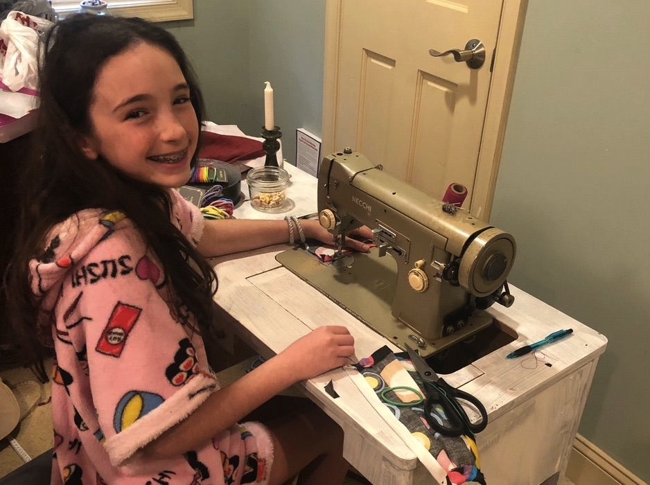 Barrack Hebrew Academy Sixth-Grader Making 'Superhero' Masks for Health Care Workers, Community