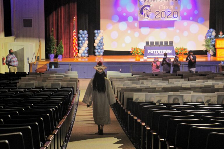 Pottstown High School Graduates Walk To Stage Alone Supported By Their Closest Family in Mini-Ceremony