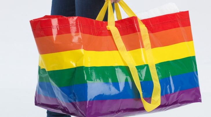 IKEA Releases Limited-Edition, Pride-Themed Reusable Bags to Support LGBTQ Homelessness Relief Initiatives