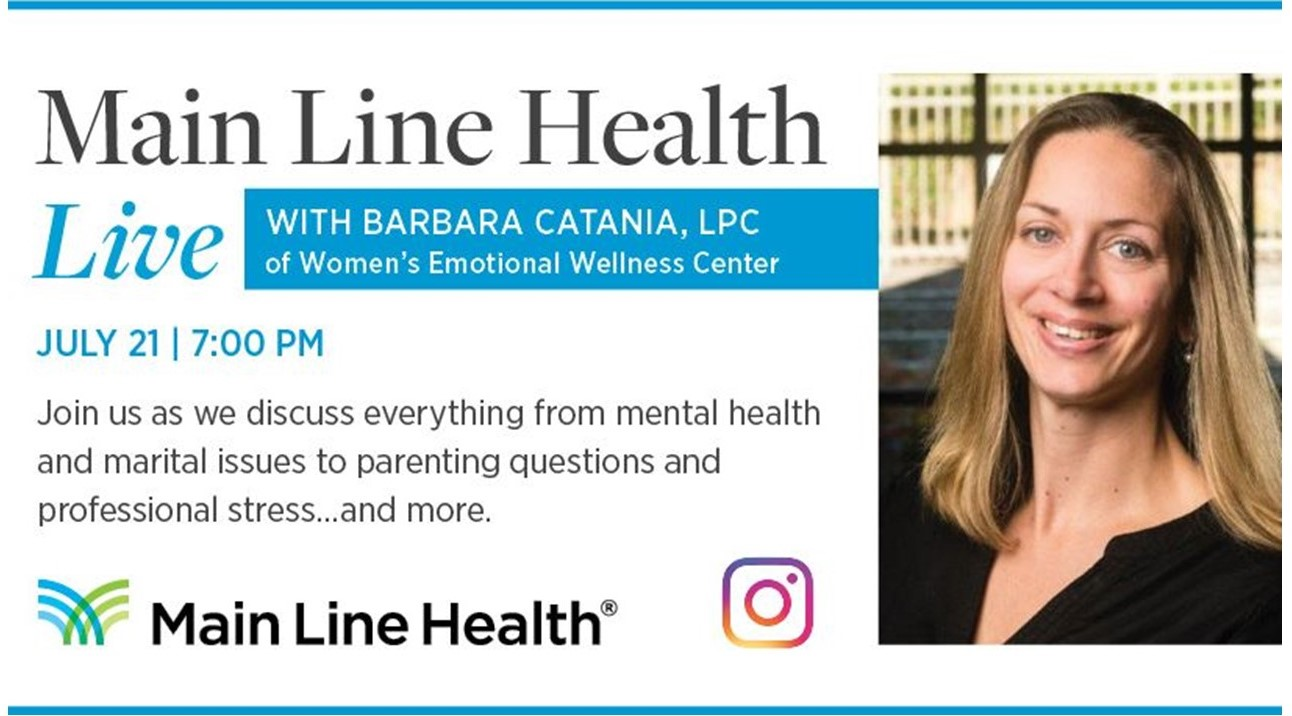 Main Line Health to Host Women's Wellness Chat on Instagram on Tuesday