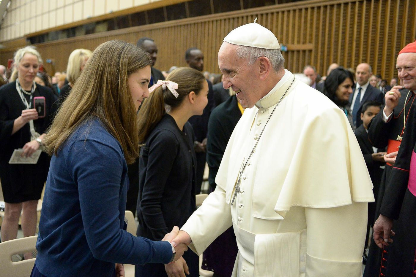 Villanova Student's Mission Promoting Type 1 Diabetes Research Put Her in Touch With a President and a Pope