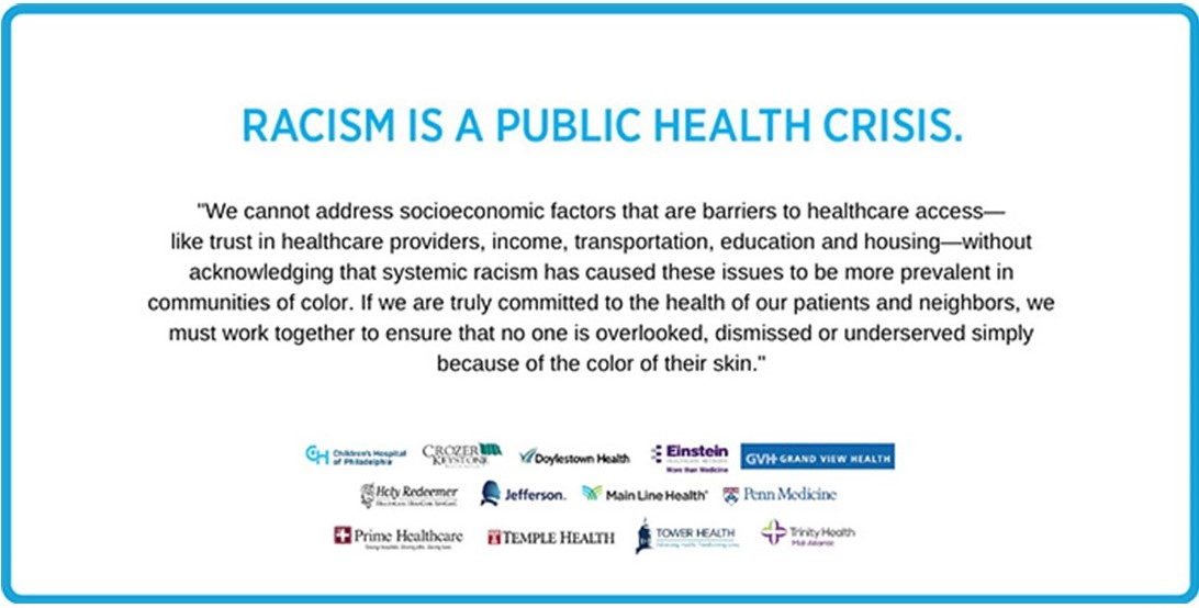 Region's Hospitals Announce Collective Commitment to Anti-Racism, Addressing Healthcare Disparities
