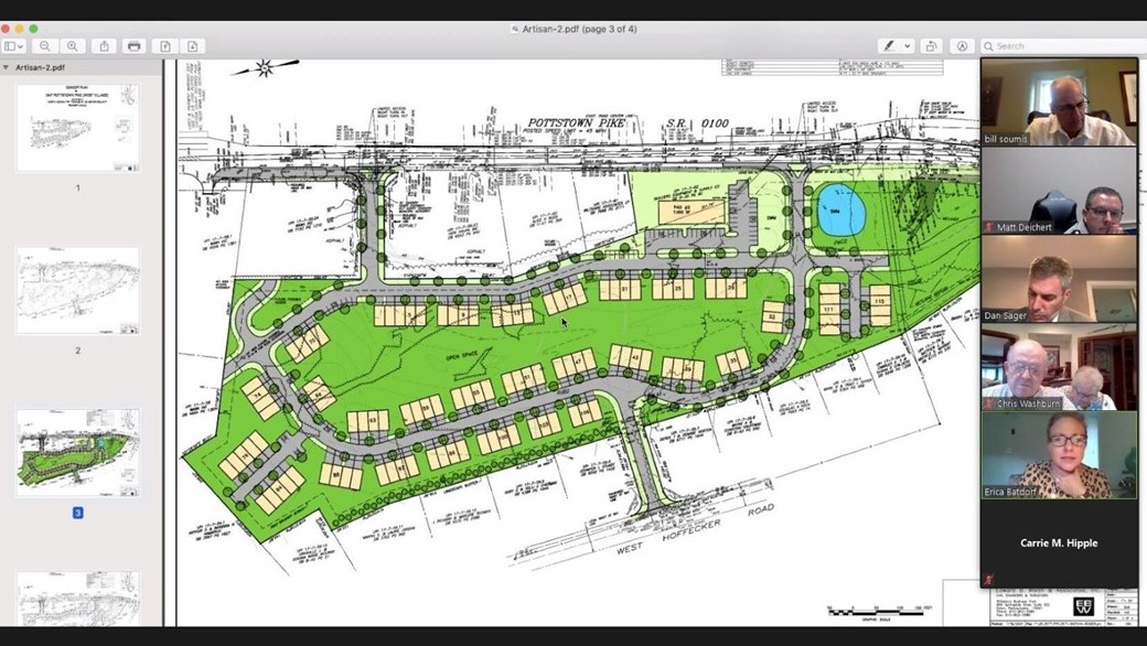 Developer Proposes 115 Townhouses Along Pottstown Pike in North Coventry