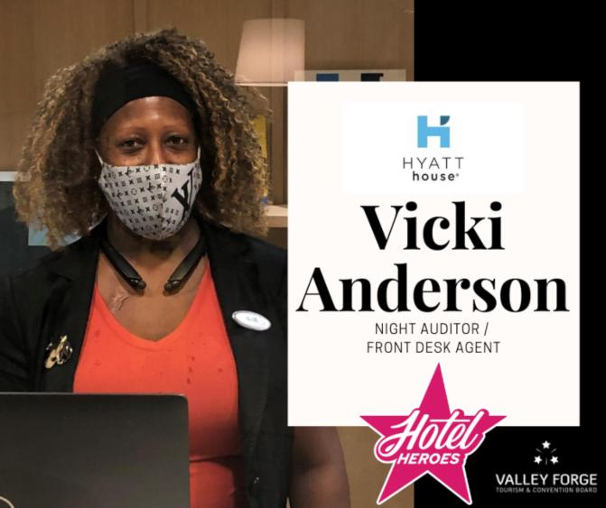 Hotel Hero: Vicki Anderson, Night Auditor/Front Desk Agent at Hyatt House Philadelphia/Plymouth Meeting