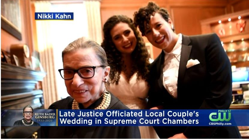 Supreme Court Justice Ruth Bader Ginsburg Officiated at This Local Couple's Wedding