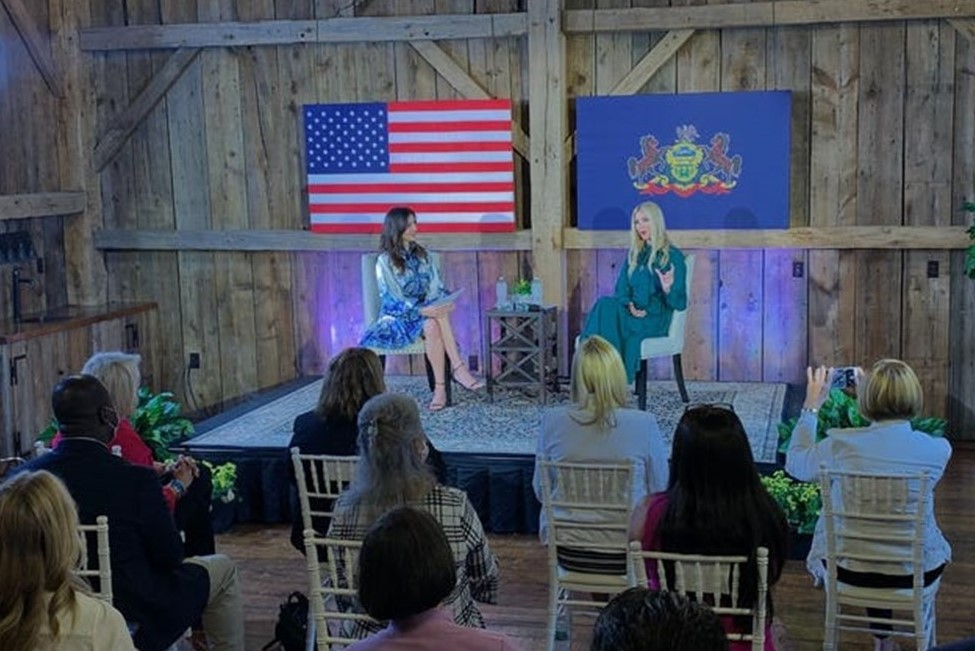 Ivanka Trump Returns to Philly Suburbs to Promote President's Re-Election Campaign