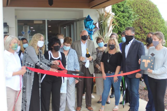 CEO Bridgette McGivern Cuts the Ribbon at CHDC Barto Grand Opening