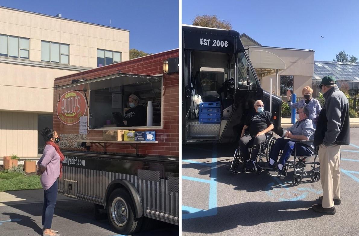 Buddy's Burgers Provides Free Lunch to Thank Staff of Bryn Mawr Rehab