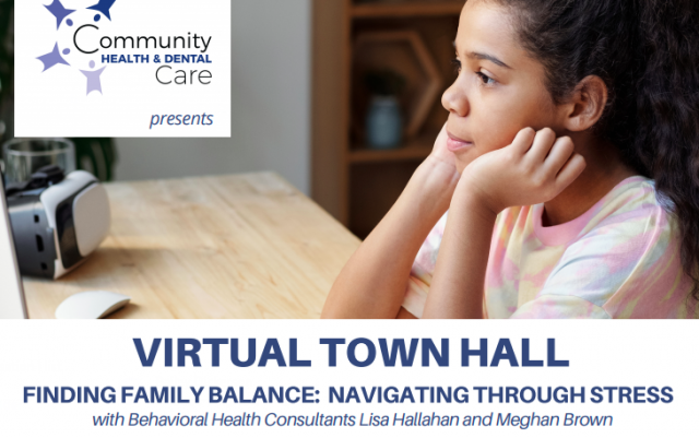 CHDC Hosting Virtual Town Hall Event to Help Parents Navigate Stress of Virtual Education