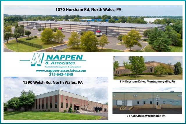 Warehouse Rental Availabilities with Montgomeryville's Nappen & Associates
